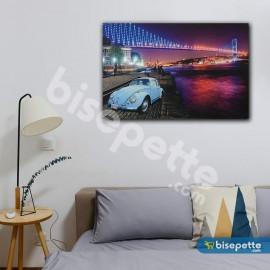 Boğaz Köprüsü ve Vosvos Temalı Ledli Kanvas Tablo