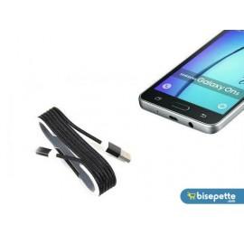 Android Örgü Şeklinde Renkli Çelik Şarj Data Kablosu - Siyah