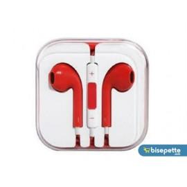 Apple iPhone 6/6S/6 Plus-5/5S/5C/5SE-4/4S/-3/3GS/3G Uyumlu Kulaklık - Kırmızı