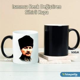 Atatürk Kişiye Özel Sihirli Kupa Bardak