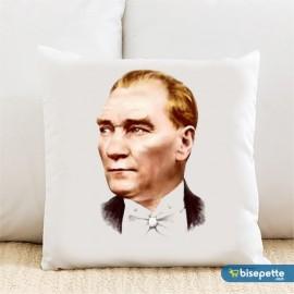 Atatürk Kişiye Özel Yastık Kılıfı Model 2