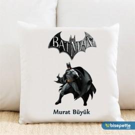 Batman Kişiye Özel Yastık Kılıfı Model 2