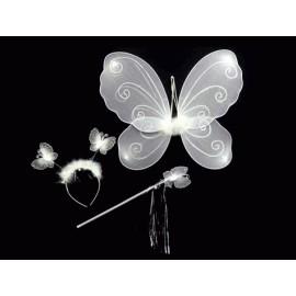 Gösteri Kelebek Kanadı (3 Parça)-Beyaz
