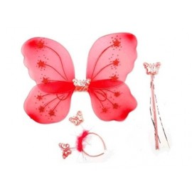 Gösteri Kelebek Kanadı (3 Parça)-Kırmızı
