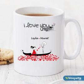 I Love You Kişiye Özel Kupa Bardak Model 2
