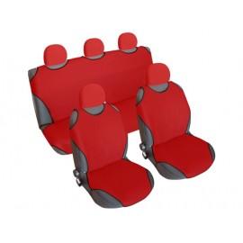 Kolay Takılabilen Ön Arka Oto Atlet Koltuk Kılıfı + 5 Başlık (Kırmızı)