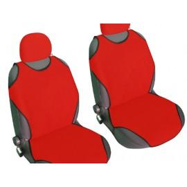 Kolay Takılabilen Oto Atlet Koltuk Kılıfı 2 li Set (Kırmızı)
