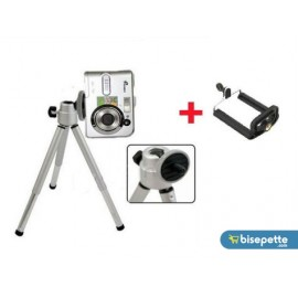 Mini Teleskopik Tripod + Telefon Başlığı Hediyeli