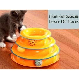 Tower Of Tracks 3 Katlı Kedi Oyuncağı Seti