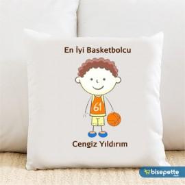 En İyi Basketbolcu Kişiye Özel Yastık Kılıfı