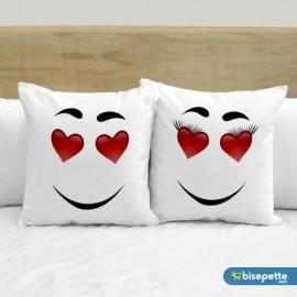 Kişiye Özel İkili Aşık Yüz 2 li Aşk Yastık Kılıfı