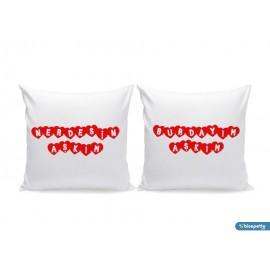 Kişiye Özel Nerdesin Aşkım, Burdayım Aşkım 2 li Aşk Yastık Kılıfı