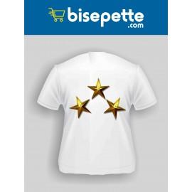 3 Yıldız Baskılı Tişört