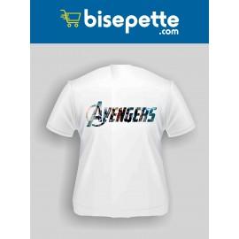 Avengers Karakter Yazılı Baskılı Tişört